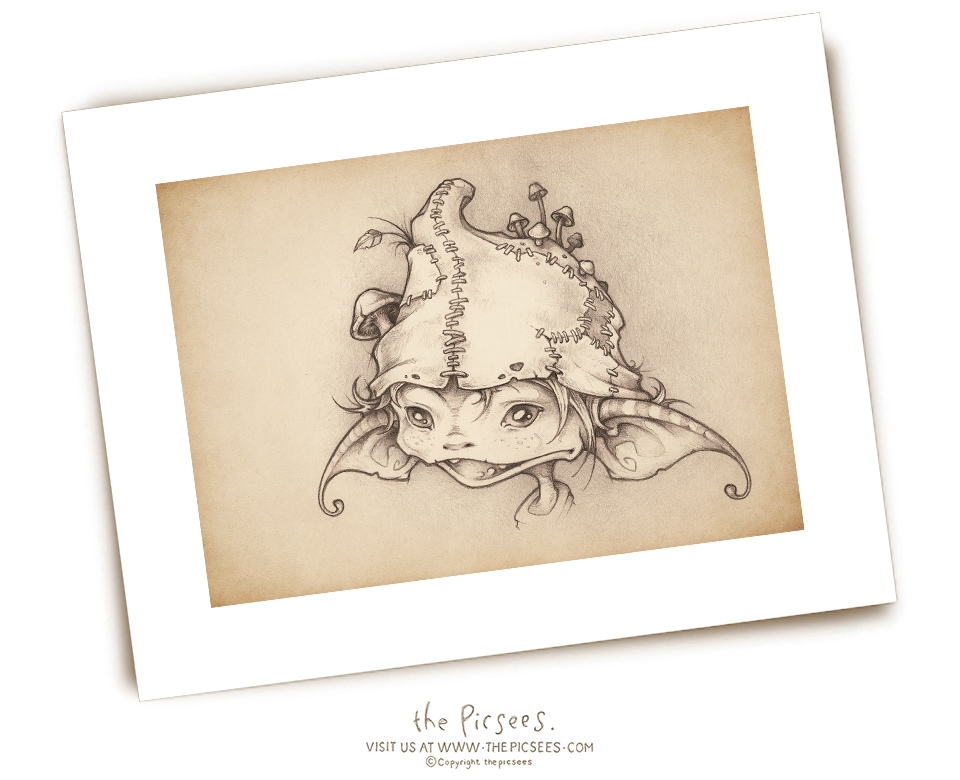 a limited edition signed print of our portrait of Kale the Goblin